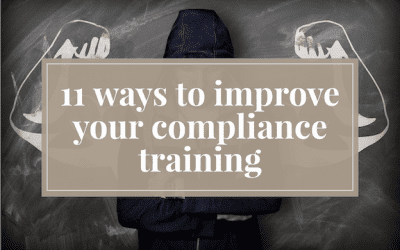 How to improve compliance training program