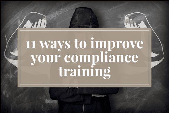 How to improve compliance training program