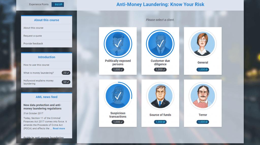 AML Compliance training suit by Vinci