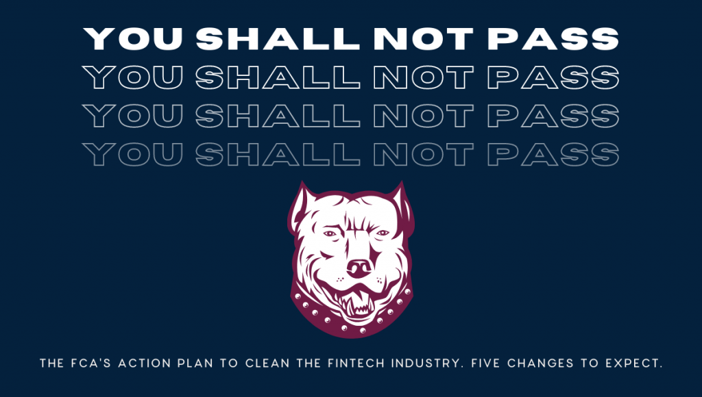 The FCA's action plan to clean the FinTech industry. Five changes to expect.